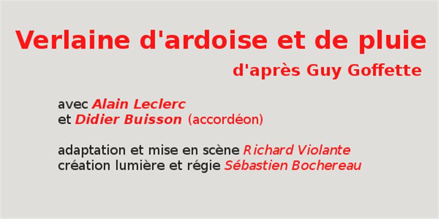 Verlaine Avignon 2017 - Le Théâtre du Passage