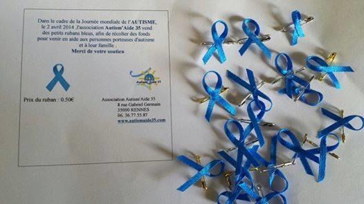 Vente de Rubans Bleus (modèle déposé), cliquez sur faire un don. - Autism'Aide 35