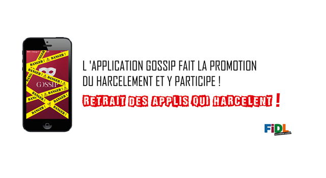 Action en justice contre l'application de harcèlement GOSSIP - FIDL, le syndicat lycéen