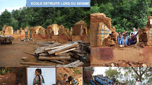 PROJET DE RECONSTRUCTION ECOLE DE MANDAN - VILLAGE DE KUNTABESSI - sante sans frontiere