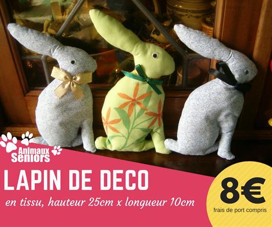 Lapin de décoration - 8€ - Animaux Séniors