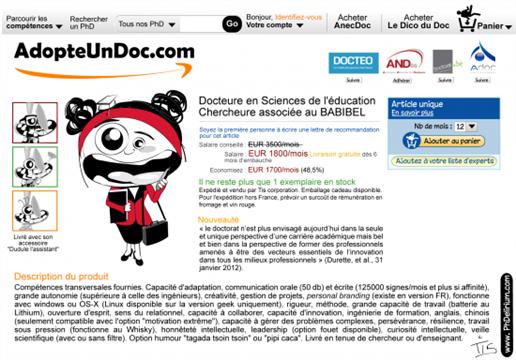 """Collecte de lots et de dons pour le concours """"Adopte un doc.com"""" - PhDelirium"""