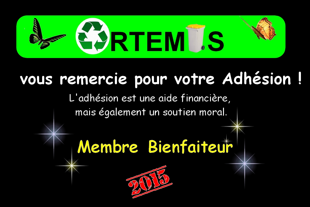 ADHESIONS 2015 - ASSOCIATION ARTEMIS