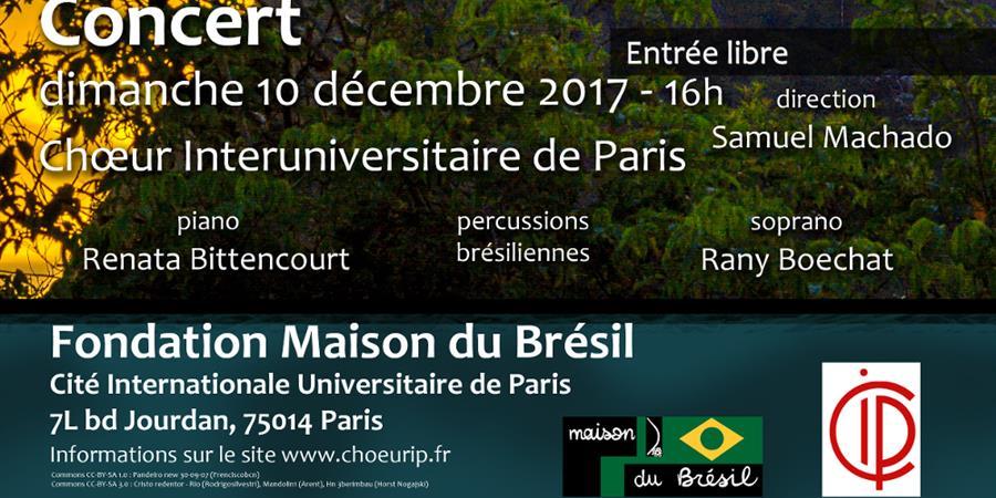 Deuxième concert de chants brésiliens - décembre 2017 - Chœur Interuniversitaire de Paris