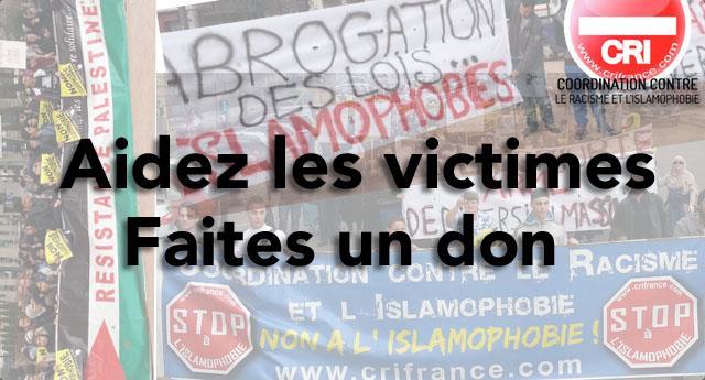 Soutien aux victimes : nouvelle page - Coordination Contre le Racisme et l'Islamophobie