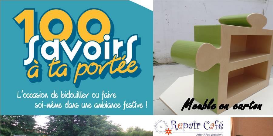 """Festival """"100 savoirs à ta portée : répare et fais toi-même."""" - eco-citoyennetes"""