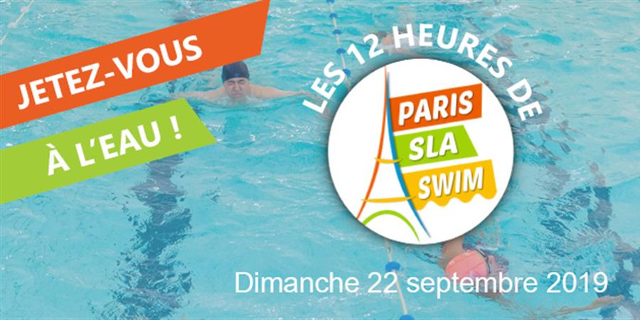 Marie-Claire participe à Paris SLA Swim  - ARSLA