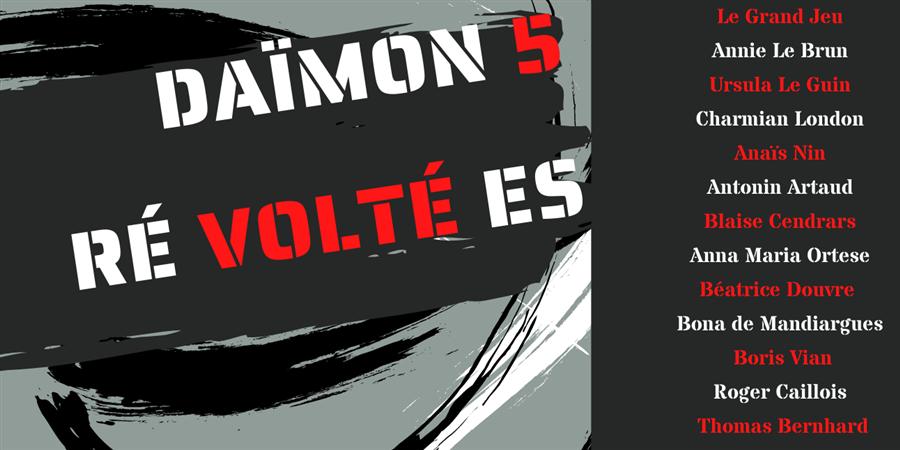 """Souscription à la Revue Daïmon#5 """"RÉvoltéEs"""" - Daïmon"""