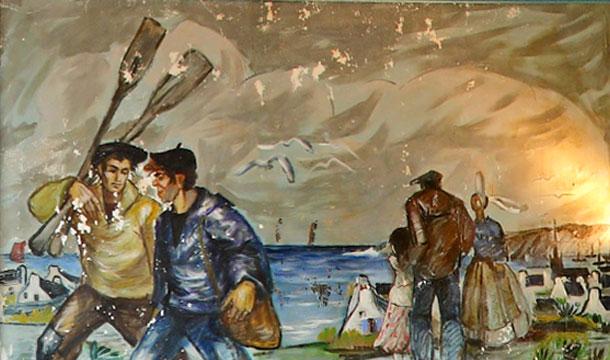 Restauration de six fresques de Bernard Locca - Comité de quartier du Portrieux