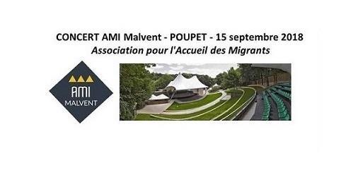 Collecte concert solidaire, accueil migrants, du 15.09  à Poupet-St Malô du Bois - AMI MALVENT