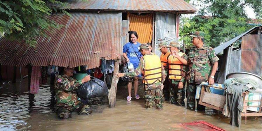 Aide d'urgence pour les familles affectées par les inondations au Cambodge. - Aide aux Enfants Cambodgiens, Foyer Lataste