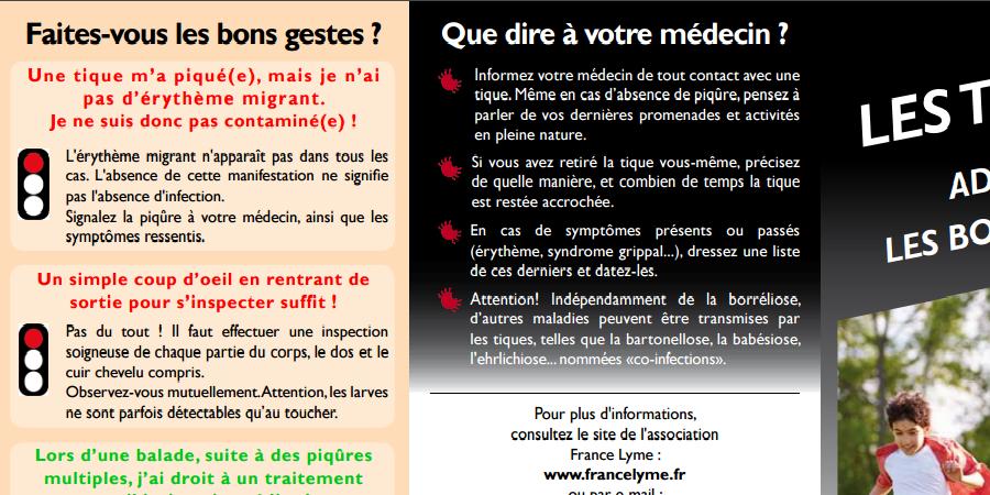 Commande plaquettes de prévention - Association France Lyme