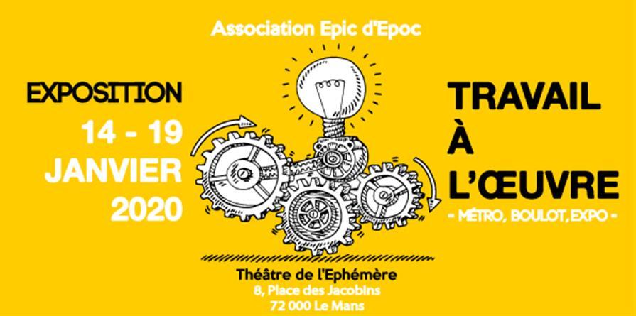 Exposition d'art contemporain - Association Epic d'Epoc - Travail à l'oeuvre  - Epic d'Epoc