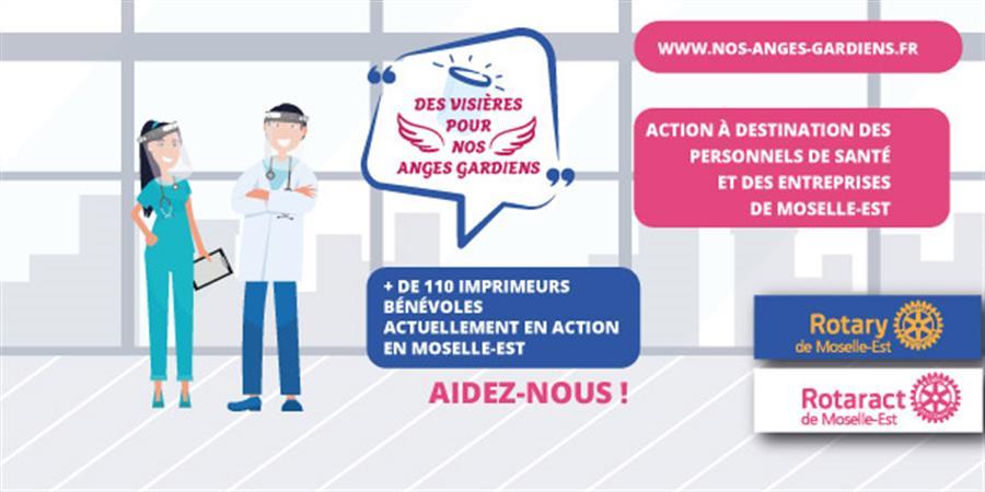 """Soutenez notre action : """"Des visières pour nos anges gardiens"""" - ROTARY CLUB DE SARREGUEMINES"""