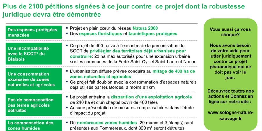 Contre le projet du Golf des Pommereaux - Sologne Nature Sauvage