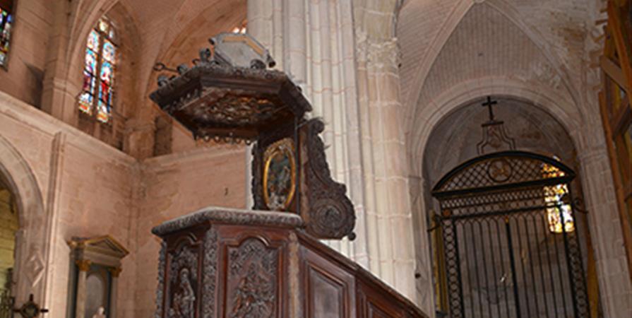 Restauration de la chaire à prêcher de l'église St Pierre de Tonnerre (Yonne) - ASSOCIATION POUR LE RAYONNEMENT DE L'EGLISE SAINT PIERRE DE TONNERRE