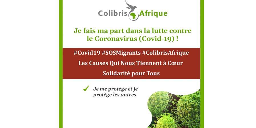 Covid19 - SOS Migrants - Colibris Afrique  - Colibris Afrique