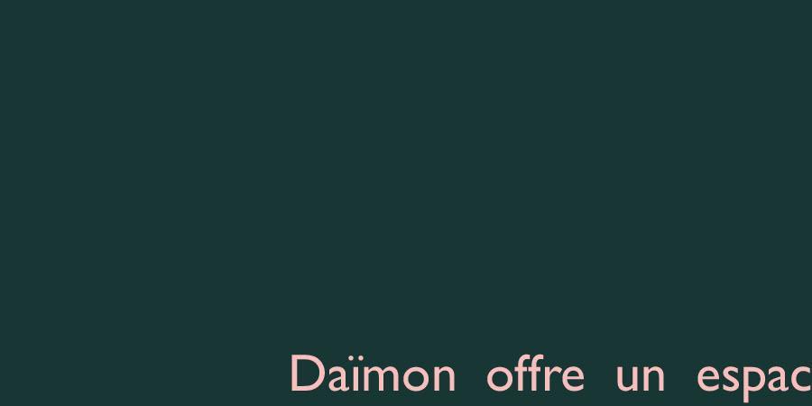 Daïmon - Revue de singularités littéraires - Daïmon