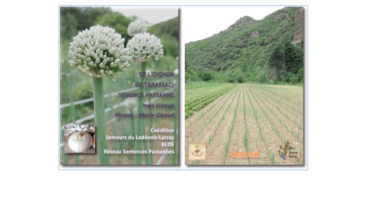 """Participez à l'édition du livre """"De l'oignon de Tarassac, semence paysanne"""" - Collectif des Semeurs du Lodevois-Larzac"""