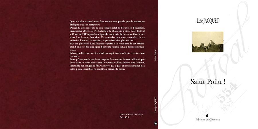Salut Poilu ! un livre de Loïc Jacquet - Galerie 175 - éditions du Chameau