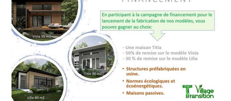 Maison bois écologique passive - Village Transition