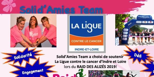 Solid'Amies Team-Raid des Alizés 2019 - La Ligue contre le cancer Comité de l'Indre et Loire