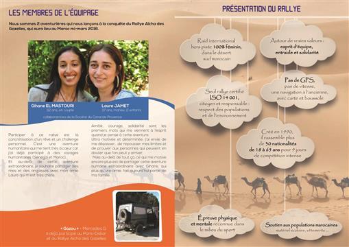 Opération Rallye Aïcha des Gazelles - Maroc 2016 - L'Or bleu des Gazelles