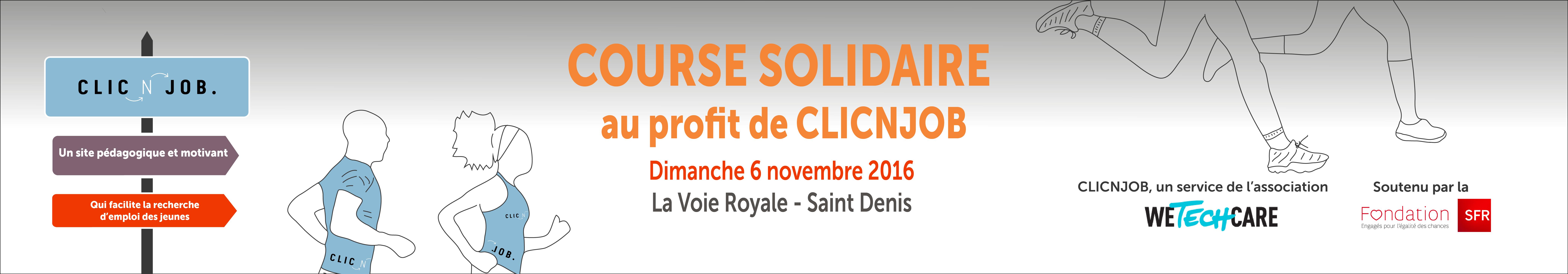 Soutenez-moi lors de la Course Solidaire pour CLICNJOB ! - WeTechCare