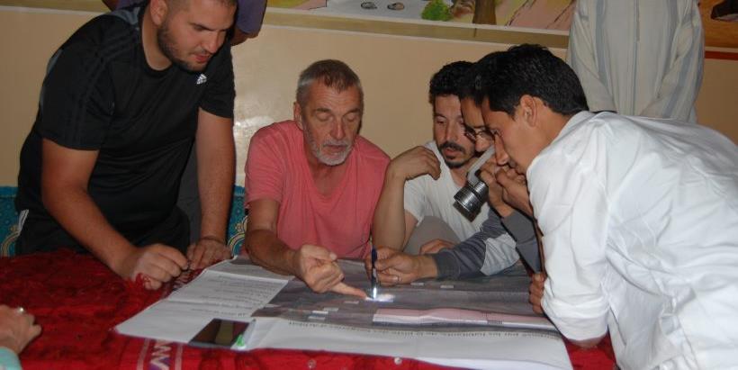Création d'une piste pour désenclaver un hameau d'altitude au Maroc - Amazigh Trekking