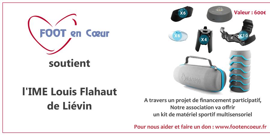 Kit de matériel sportif multisensoriel pour l'IME Louis Flahaut de Liévin - FOOT en COEUR