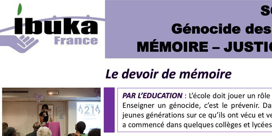 Appel spécial aux dons  - Ibuka France