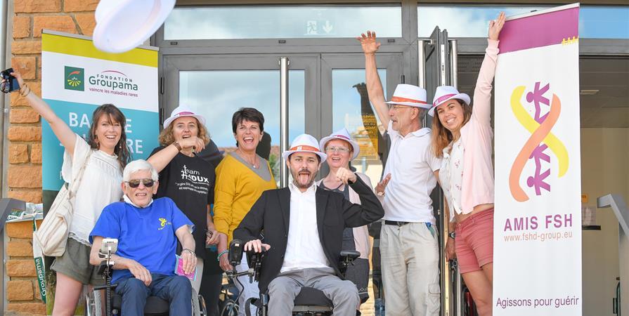 Balade Solidaire pour AMIS FSH avec la Fondation GROUPAMA Rhône-Alpes  - Amis FSH Europe