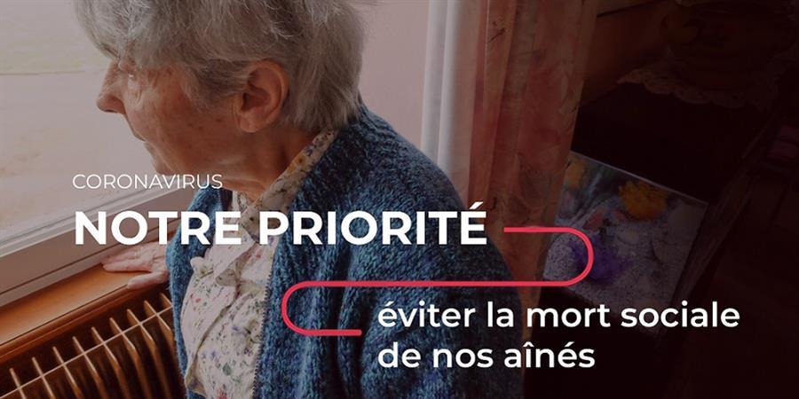 COVID-19 : évitons la mort sociale des personnes âgées - LES PETITS FRÈRES DES PAUVRES