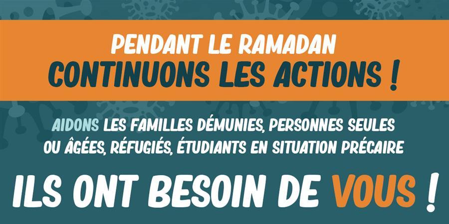 ACTION SOLIDARITE COVID-19 agglomération Dijonnaise - RAMADAN 2020 - Union des Mosquées de la région Bourgogne-Franche-Comté