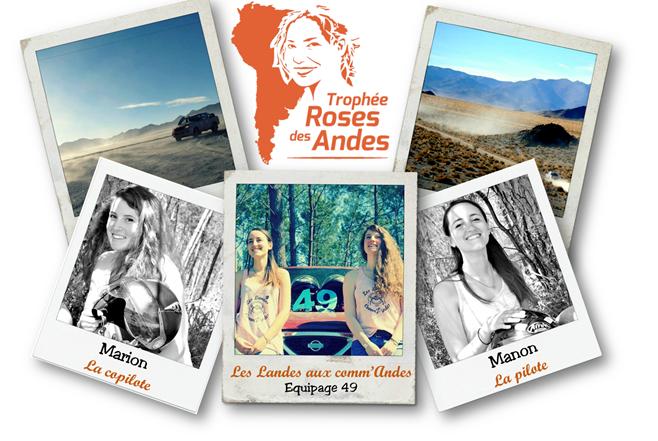 Les Landes aux comm'Andes - Équipage 49 du Trophée Roses des Andes 2019 - Les Landes aux comm'Andes