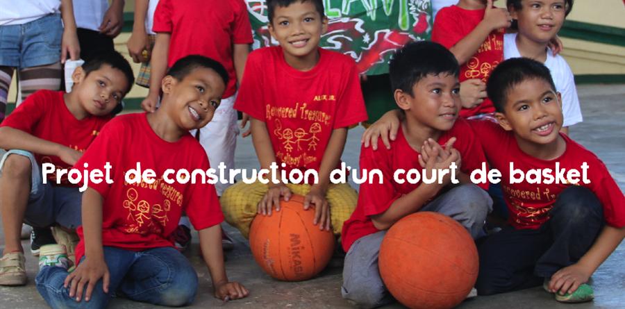 Un terrain de basket pour les enfants de Kalipay - Cap'Asie