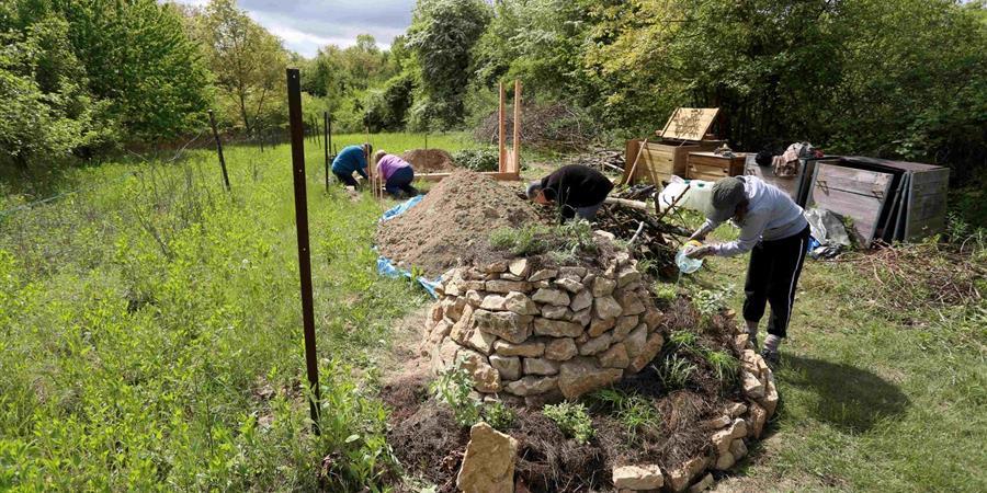 Création d'un jardin partagé sur les principes de la permaculture à Sierentz - Jardin partagé le Wurzla Garta