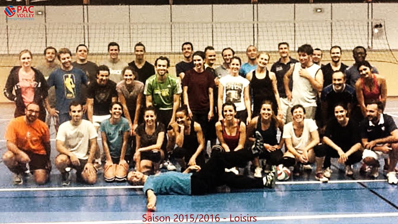 Licence Loisir - Tarif Janvier 2016 (valable de janvier à août 2016) - Paris Amicale Camou Volley-ball