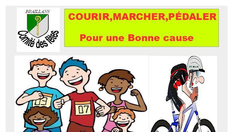 Courir, Marcher, Pédaler - comite des fetes de braillans