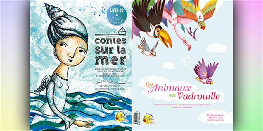 """Double Album-CD """"Contes sur la mer"""" et """"Animaux en Vadrouille"""" - Après la Pluie..."""