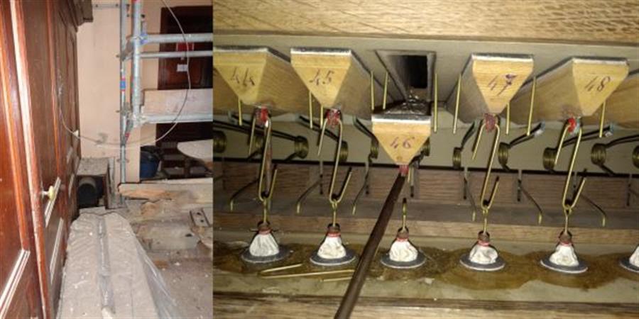 Mise en route de l'orgue suite au chantier de restauration du clocher. - Les Amis de l'église de Saint Aubin sur Mer
