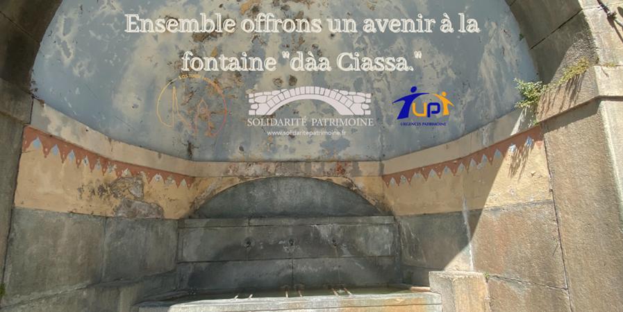 """Un avenir pour la Fontaine """"dàa Ciassa"""" à Tende - Urgences Patrimoine"""