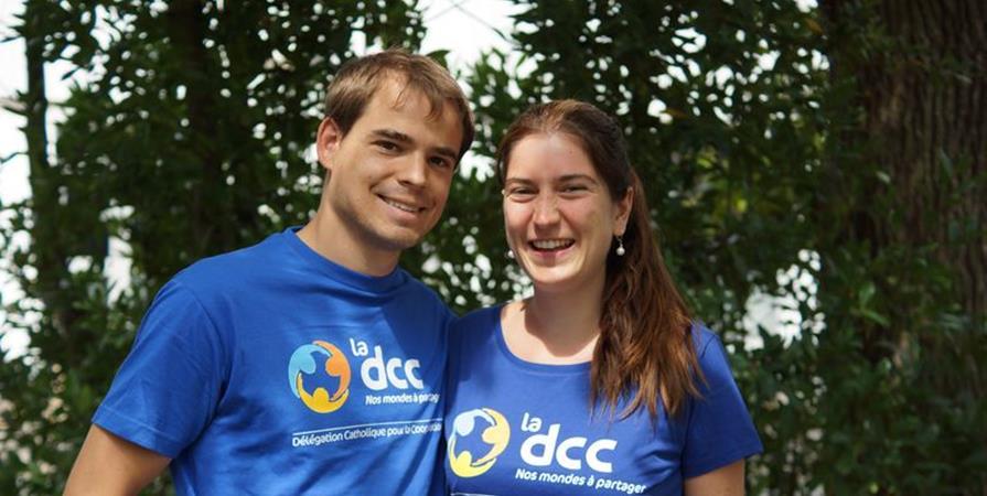 Claire et Antoine en Côte-d'Ivoire - Délégation Catholique pour la Coopération