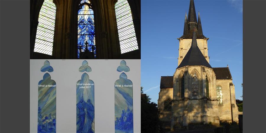 Souscription pour 2 vitraux complétant l'abside de l'Eglise - Les Amis de l'Eglise St Julien de Royaucourt