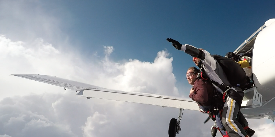 SKYDIVE FOR ALL : sauts en tandem de parachutisme handisport - BLEU COHESION