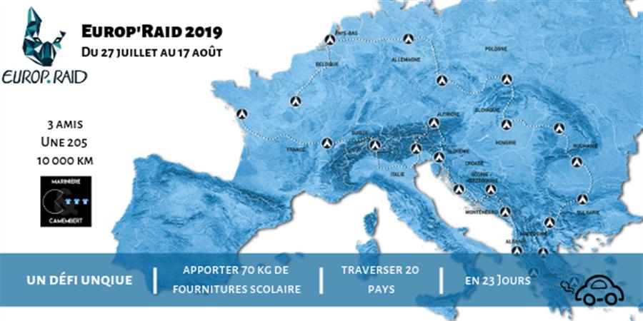 Carte Europe Raid.Objectif Prendre Le Depart De L Europ Raid 2019 Cagnotte