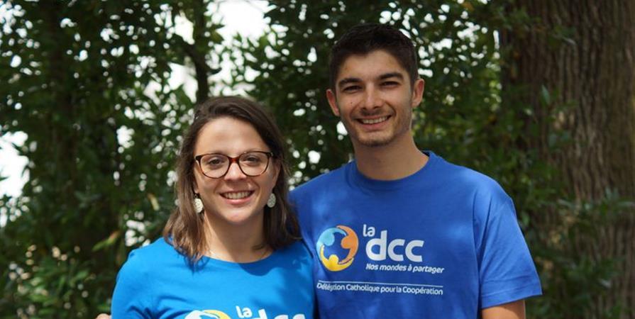 Célia et Sullivan, pharmacienne et infirmier en Côte-d'Ivoire - Délégation Catholique pour la Coopération