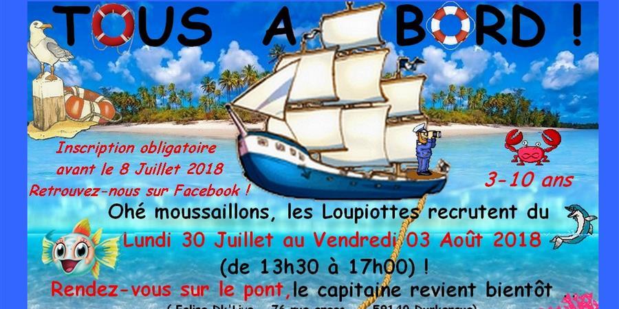 CAMP TOUS A BORD 2018 - Les Loupiottes