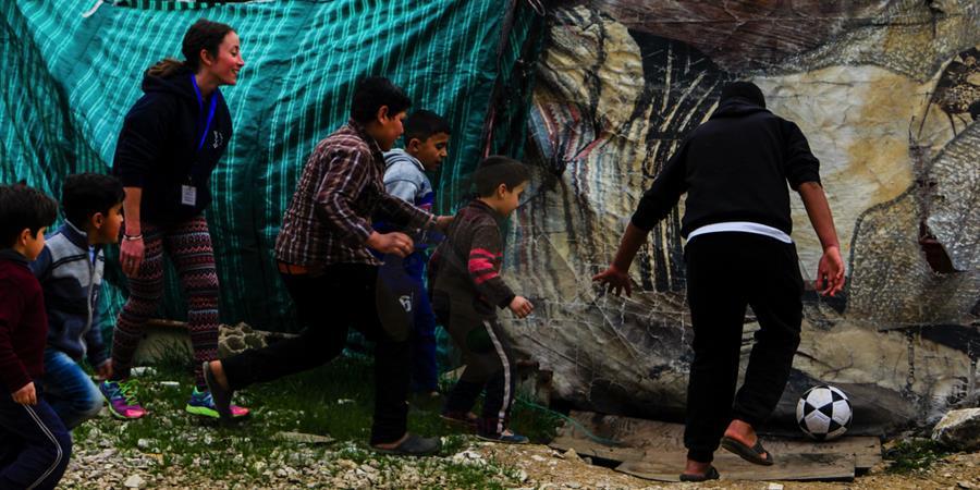 Liban-SPORT-Réfugiés: Pour un dialogue entre jeunes réfugiés et libanais.  - SPORT International Solidaire