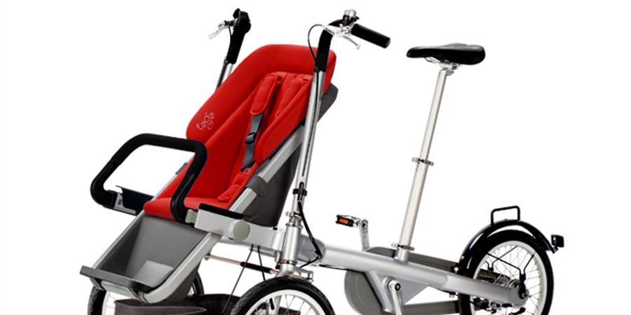 Tricycle-poussette et Upsee pour l'aide à la mobilité de Stela - Rêvez Etoiles